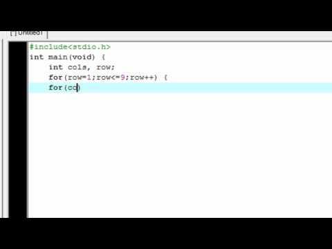 For Loop (Multiplication table) - C /C++ programming