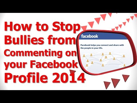 How to Stop Bullies from Commenting on your Facebook Profile