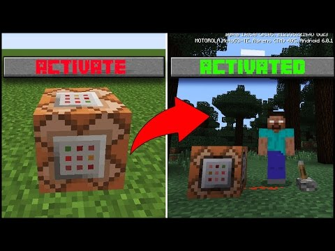 Use Command Block To Summon Herobrine In Minecraft Pocket Edition | minecraft pe ( mcpe ) herobrine