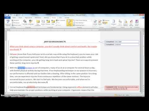Step 14.4: Accepting and Rejecting changes in Word