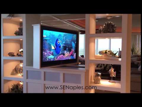 Motorized and Rotating TV Lift in Naples, Florida by Specialty Electronics