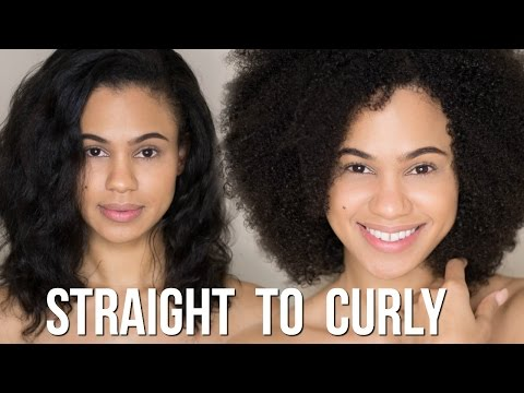 Straight to Curly   Watch My Hair Revert With NO Heat Damage