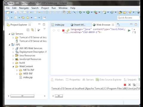 Java Server Pages Tutorial 4 ( Scripting elements )
