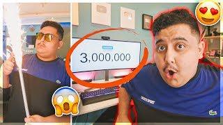 ردة فعلي على لحظة وصولي 3 مليون مشترك في اليوتيوب 😱🎉!!