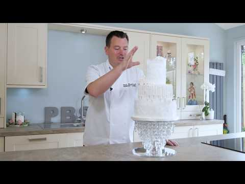 Learn how to make a pearl wedding cake
