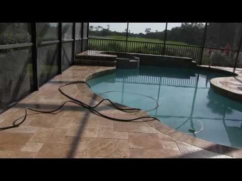 Travertine Pool Deck Installation - Tuscan Paving Stone