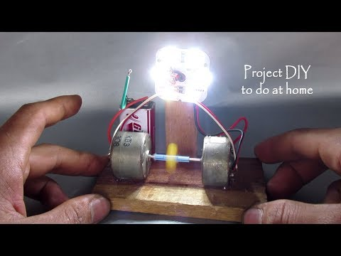 How to make free energy generator at home easy using DC motor & battery - DIY project actually work