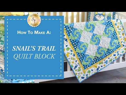 How to Make a Snail's Trail Quilt Block | a Shabby Fabrics Quilting Tutorial