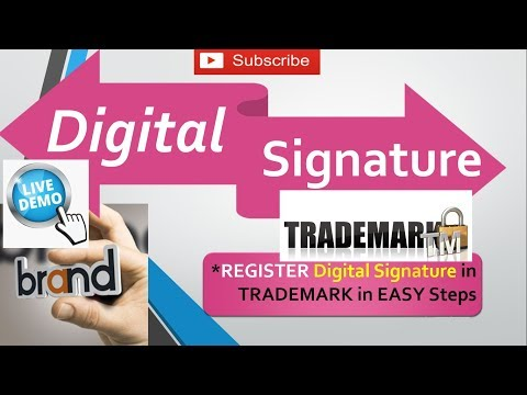 How to Register DIGITAL SIGNATURE in Trademark Application ? Register Digital Signature in 5 Minutes