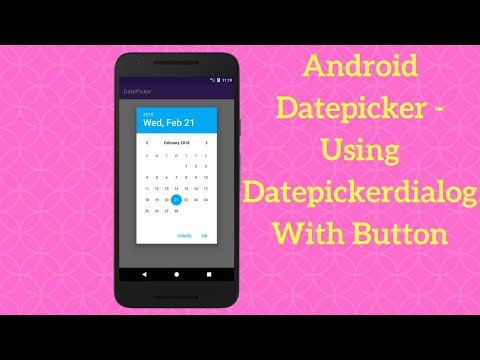 Android Datepicker - Using Datepickerdialog With Button (Demo)