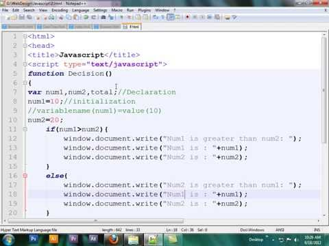 Javascript Bangla Tutorial:: if construct in Javascript