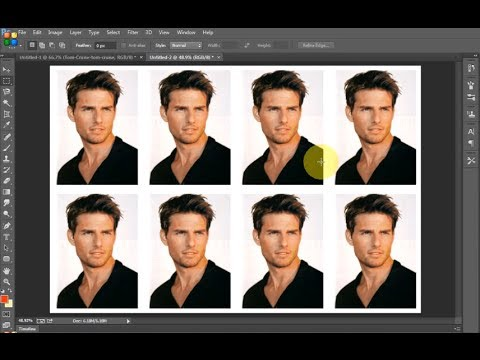 Photoshop CC - Create passport size photograph in a minute using photoshop