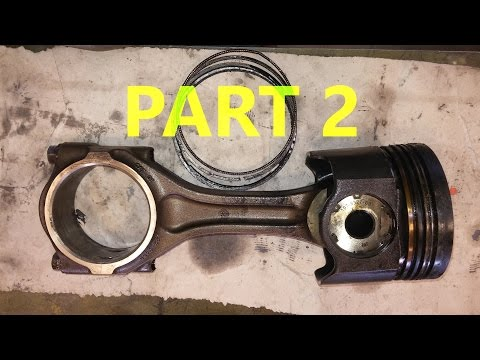 How To Rebuild A Diesel Engine.  Part 2.  Piston Packs, Mains, and Thrust Bearings. Twin Turbo Cat.