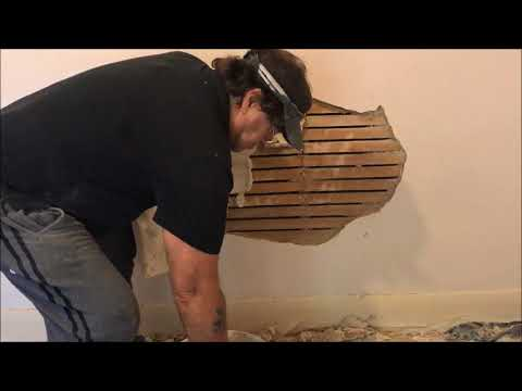 Large Hole in Lath and Plaster - wall repair