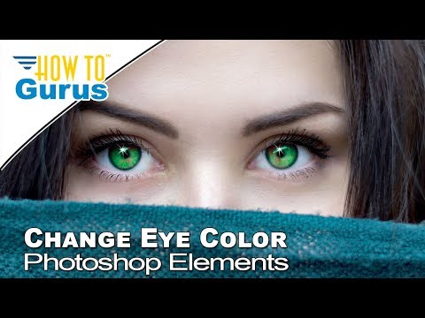 How to Use Photoshop Elements Adjustment Layers for Perfect Eye Color Change 2018 15 14 13 Tutorial