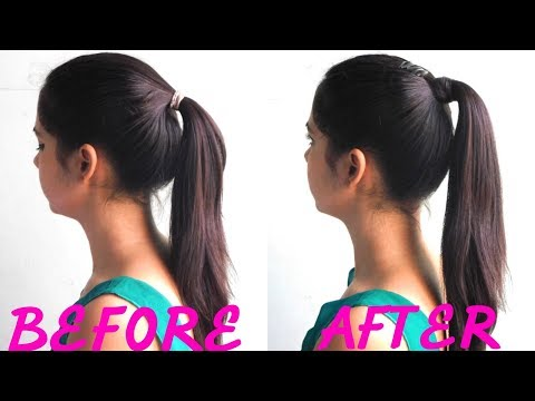 One minute perfect high ponytail with trick- #OneMinuteBeauty