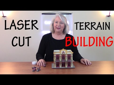 How to Design and Laser Cut a Scale Model Building for Wargaming Terrain