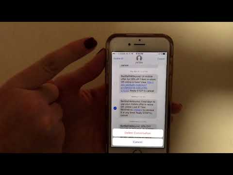 How to delete texts on iPhone iOS 10