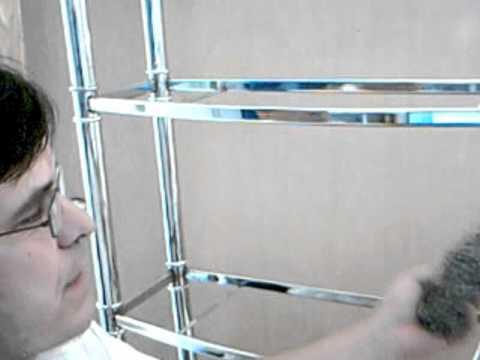 Reviving a Chrome  Bathroom Shelf from rusted spots
