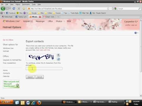 Export contacts from Hotmail to Gmail