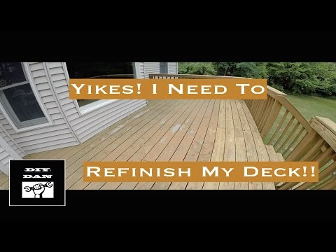 How To Restain A Deck (Cabot Jarrah Brown)