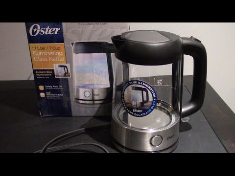 Unboxing the Oster Illuminating Glass Kettle 1.7 Litres/7 cups BVSTKT7098