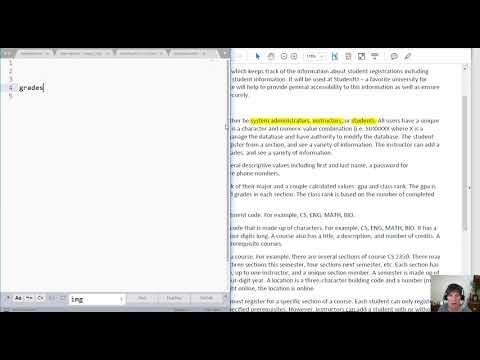 Conceptual Database Design Part 2
