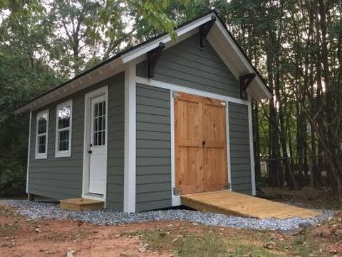 How to build a shed ramp on a sloped grade
