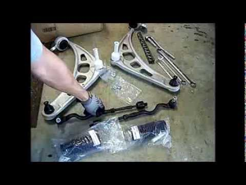 BMW 330i, 325i,  e46, Lower Control Arms and Tie Rods How to Change out, Repair