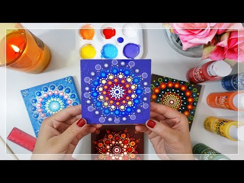 ❂ Mandala Dot Painting ❂ | Deep Purple