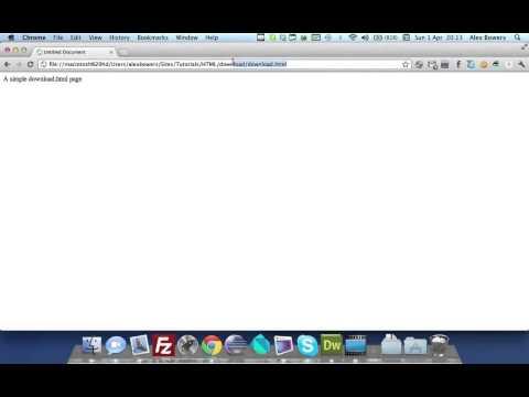 HTML5 Tutorials: Force Download