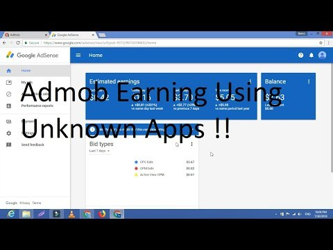 Admob Earning Using unknown person Apps !!