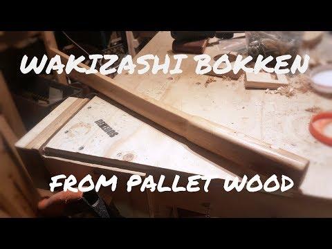Wakizashi Bokken made from Pallet Wood