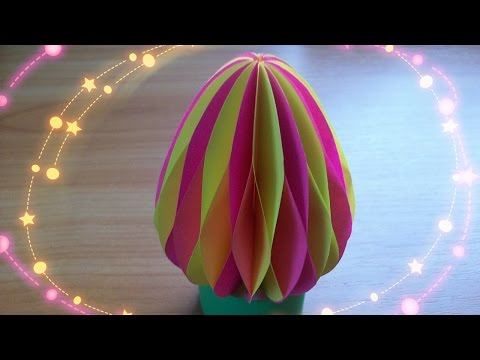 DIY Handmade Crafts and Gifts/ How to Make 3D Paper Easter Eggs