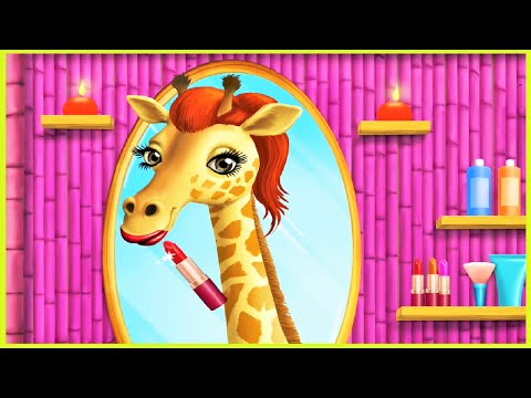 Play with Animal Hair Salon & Make Up Jungle Animals Fun Game For Kids & Baby
