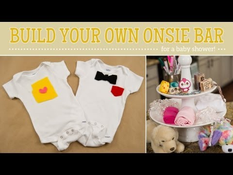 How to Make Onesie Bar for a Baby Shower