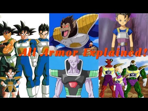 All Versions and Types of Saiyan / Freiza Soldier's Battle Armor and Battle Jackets ( DBZ, DBS)