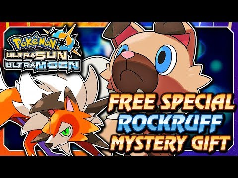 Pokémon Ultra Sun & Moon - FREE Special Rockruff Dusk Form Mystery Gift Event! (ENGLISH / AMERICA)