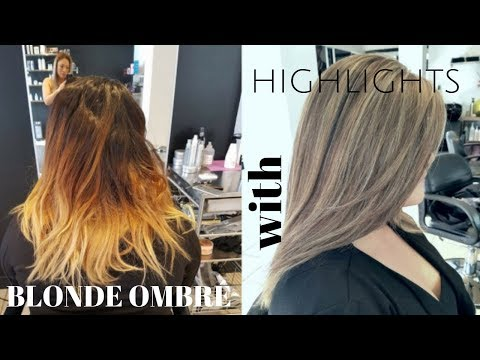 BLONDE OMBRE with HIGHLIGHTS on top