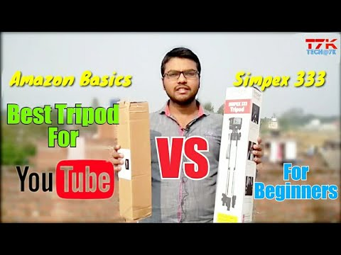 Simpex 333 tripod vs amazon basics tripod massive comparison | Best Tripod for youtube