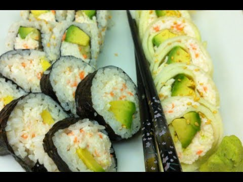 How to make three types of California rolls