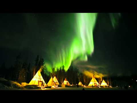 Les aurores boréales à Yellowknife (Territoires du Nord-Ouest, Canada) #ExploreCanada
