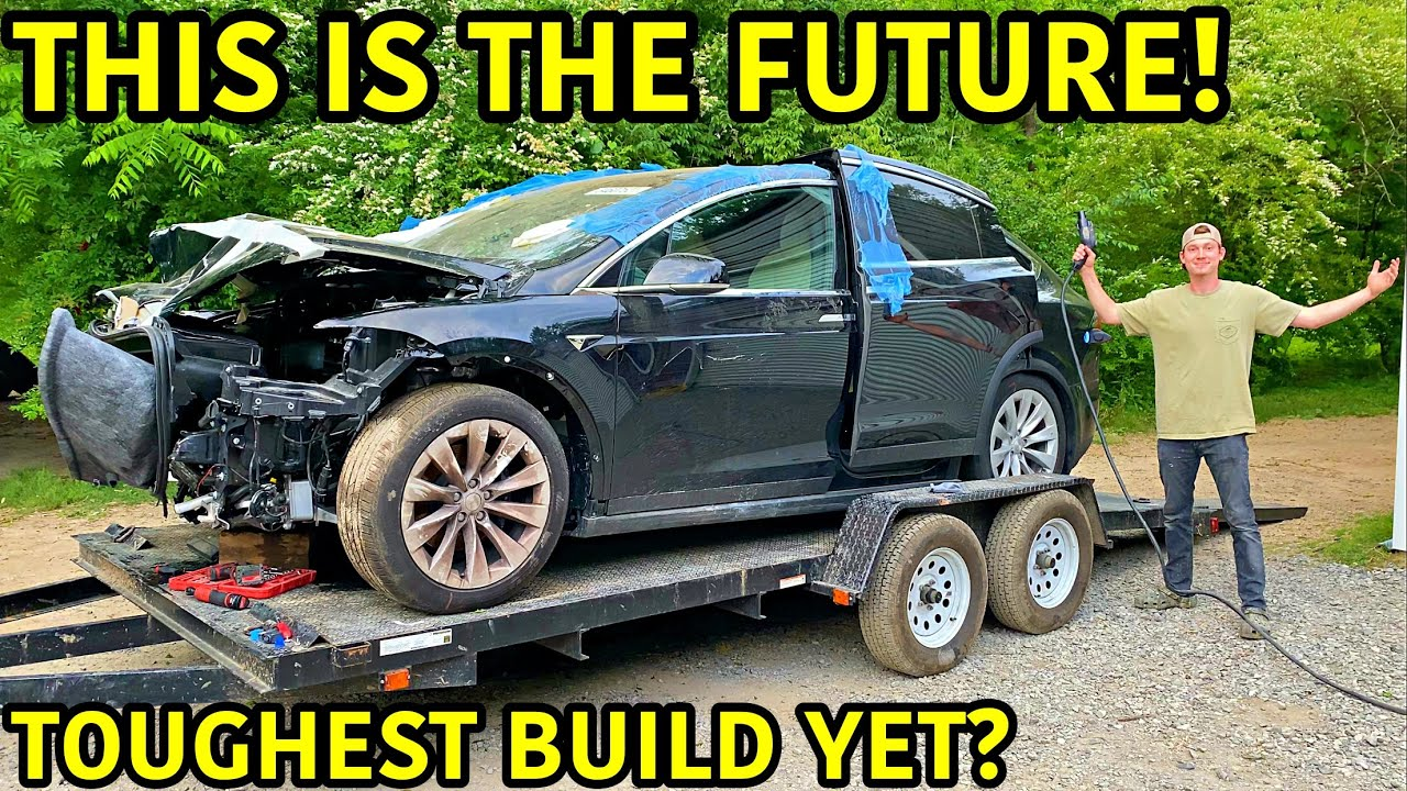 Rebuilding A Wrecked 2020 Tesla Model X
