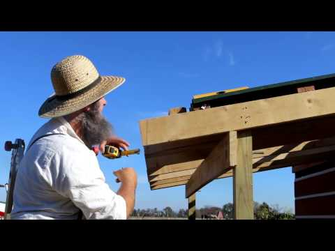 OUTDOOR KITCHEN BUILD- CUTTING RAFTERS FOR GUTTER BOARD (HOW TO)