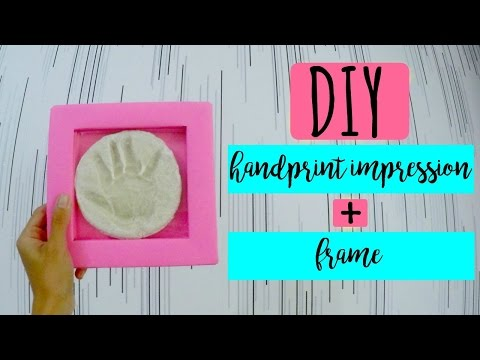 DIY Handprint Impression + DIY Frame