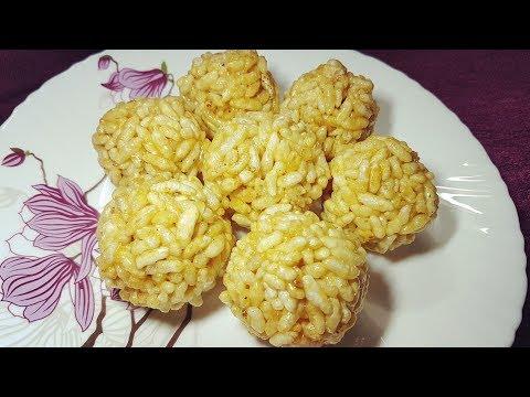 हलवाई जैसे मुरमुरा लड़डू Murmure Laddu recipe murmura ladoo Puffed rice mamara ladu