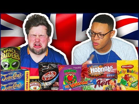 NEVER PUT THIS IN YOUR MOUTH! (Americans Try UK SNACKS) [ft. Kyy Vlogs]