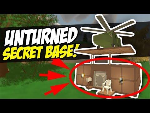 SECRET BASE - Unturned Hidden Base | How to Hide Loot! (Speed Build)