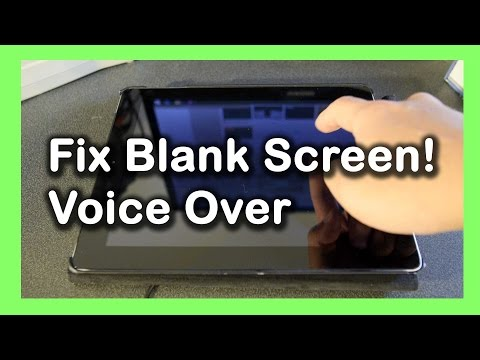 Fix Blank Screen Problem iPad, iPhone voiceover