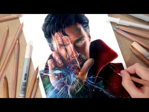 Drawing Doctor Strange (Benedict Cumberbatch)- Collab with DeMoose Art